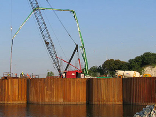 Kentucky Dam Lock Addition Cells Upstream Cofferdam